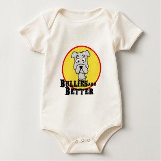 White Bulldog Baby Bodysuit