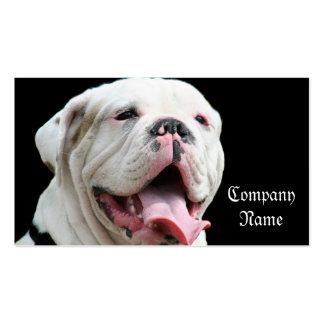 White Bulldog business cards