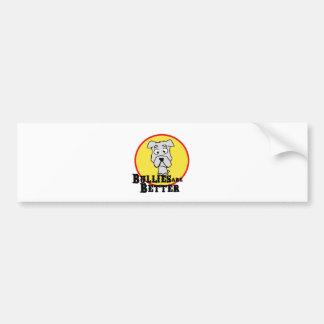 White Bulldog Car Bumper Sticker