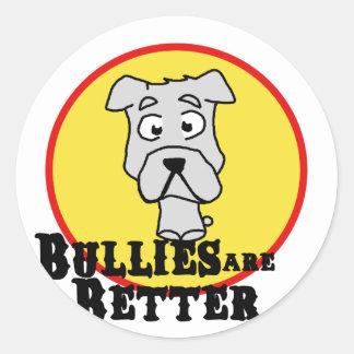 White Bulldog Round Stickers