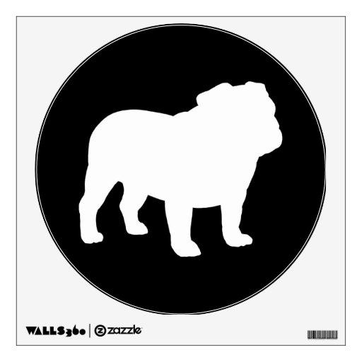 Bulldog Silhouette Images White Bulldog Silhouette on