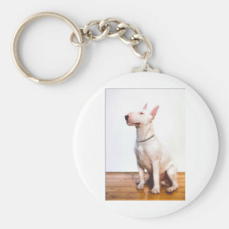 White Bully Keychain