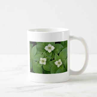 white Bunchberry blossoms flowers Mug