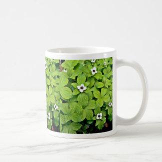 White Bunchberry Coffee Mugs