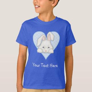 White Bunny - Blue T-Shirt