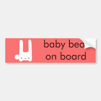 white bunny bumper sticker