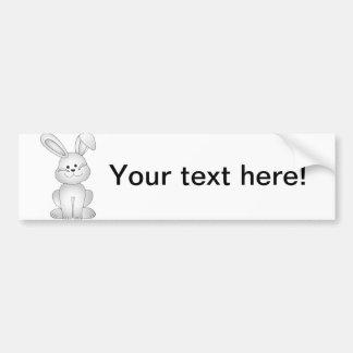 White bunny clipart bumper sticker