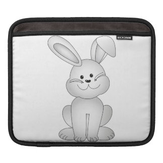 White bunny clipart sleeve for iPads