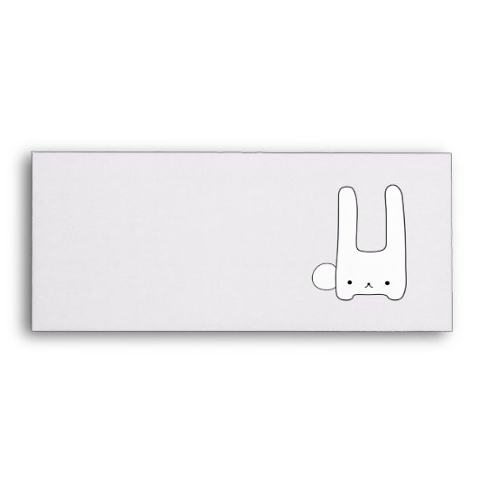 white bunny envelope