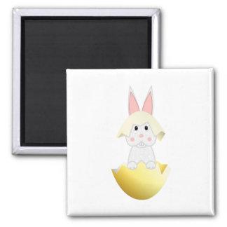 White Bunny In An Egg Fridge Magnet