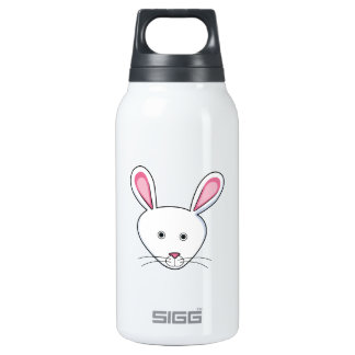 WHITE BUNNY RABBIT SIGG THERMO 0.3L INSULATED BOTTLE