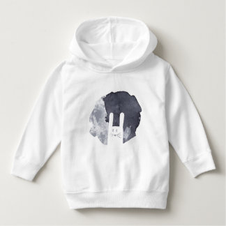 White Bunny Silhouette Hoodie