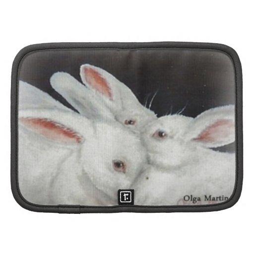 White Bunny Trio collection Folio Planner