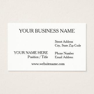 White Business Card (Matte Finish)