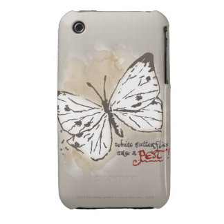 White Butterflies are a Pest iPhone 3 Case