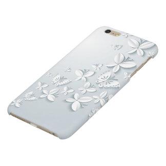 White Butterflies Matte iPhone 6 Plus Case