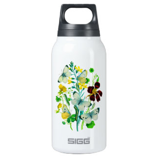 White Butterflies, Nasturtiums and WIldflowers SIGG Thermo 0.3L Insulated Bottle