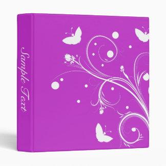 White Butterflies on Purple Binder