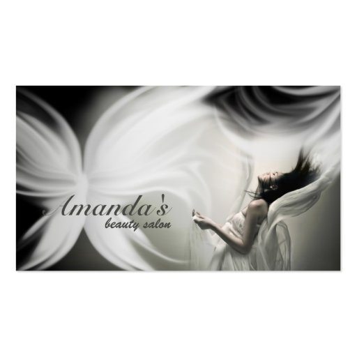White Butterfly Beauty Salon & Fashion Card Business Card Templates
