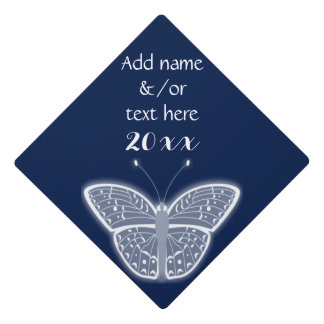 White Butterfly • Choose Color • Add Name/Text Graduation Cap Topper