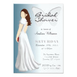 "White Butterfly Elegant Bridal Shower Invitations 5"" X 7"" Invitation Card"