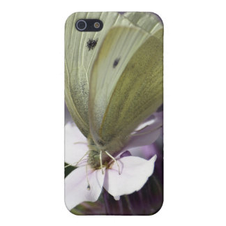 White Butterfly & Flowers iPhone Cases