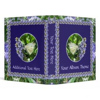 White Butterfly Lavender Garden 1 inch Binder binder