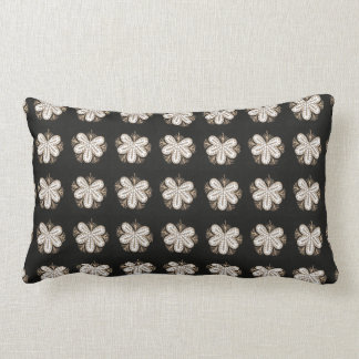 White Butterfly look flowers elegant sparkle gifts Lumbar Pillow