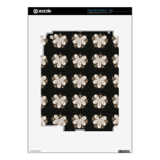 White Butterfly look flowers elegant sparkle gifts Skins For iPad 2