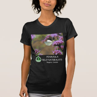 White Butterfly on Purple Wildflower Shirt