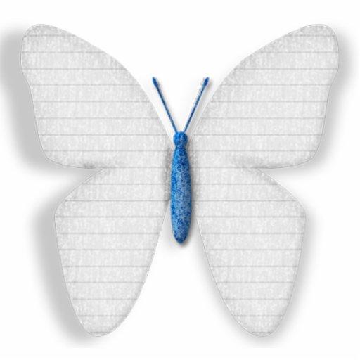White Butterfly Photo Cutouts