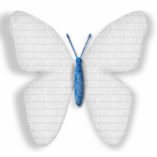 White Butterfly Statuette