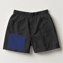 White Button Stars on Deep Blue Boxers