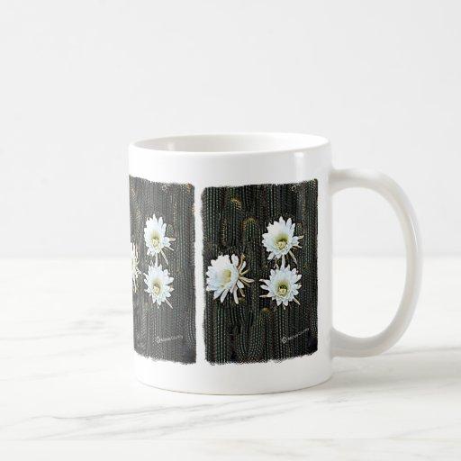 White Cactus Blooms Classic White Coffee Mug