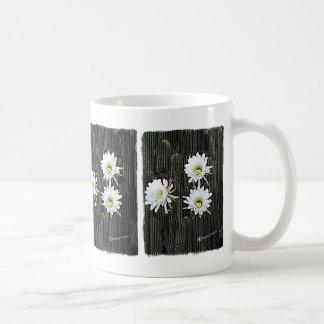 White Cactus Blooms Coffee Mug