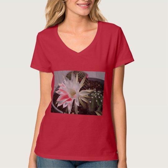 White Cactus Flower Bloom T-Shirt