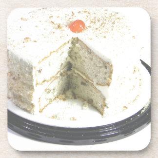 White Cake Beverage Coaster
