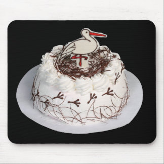White cake on the black background. mouse pad
