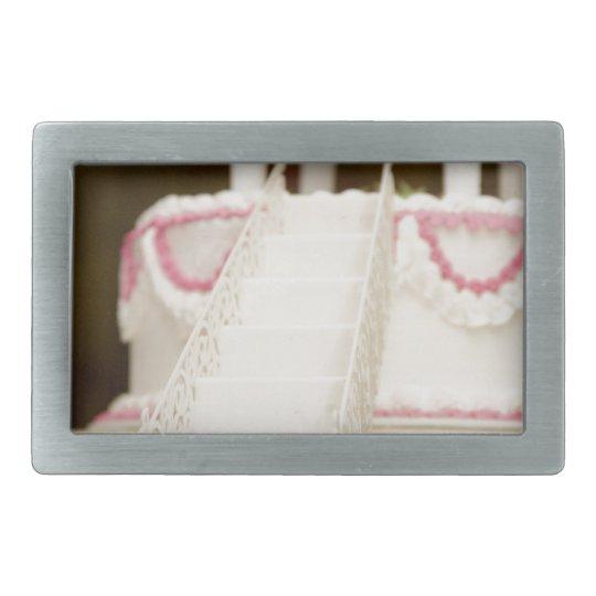 White Cake Rectangular Belt Buckle