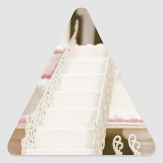 White Cake Triangle Sticker