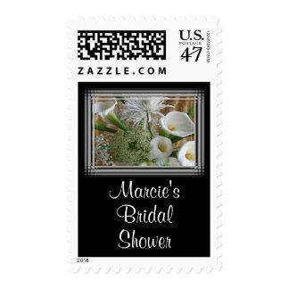 White Cala Lilies Wedding Stamp