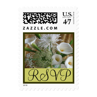 White Cala Lillies RSVP Stamp