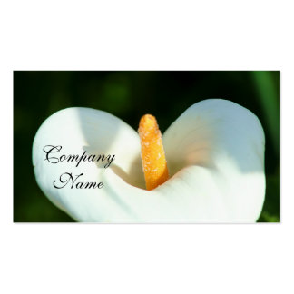 White cala lily flowers business cards