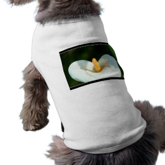 White cala lily flowers doggie tee shirt