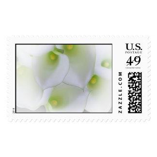 White Cala Lily Wedding Stamp