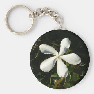 White Cali flower keychain