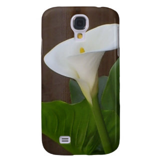 White Cali Lily Samsung Galaxy S4 Covers