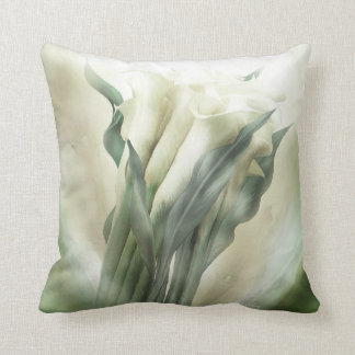 White Calla Lilies Art Decorator Pillow