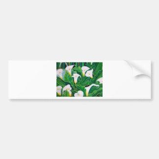 White Calla Lilies Bumper Sticker