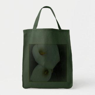 White Calla Lilies  Canvas Grocery Tote